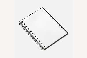 illustration of spiral notebook