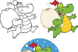Crocodile Santa Character Collection