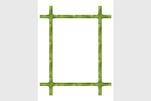 Frame of old bamboo