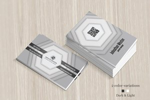 Dark & Light Creative Business Card