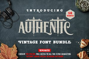 Authentic Vintage Fonts Bundle
