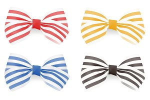 Set of Striped bows