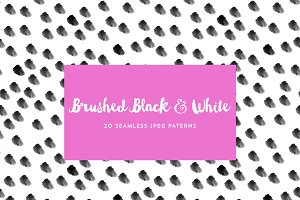 Black and white patterns 20 pack