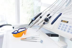 Equipment in dentist's office.