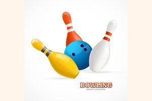 Bowling Ball Crashing Into The Pins.