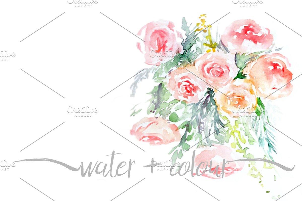 Watercolor Floral Bouquet Custom Designed Graphics Creative Market