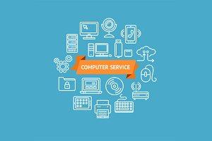Computer Service Concept. Vector