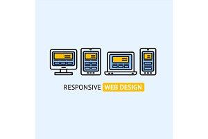 Responsive Web Design Concept.