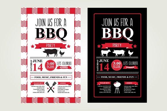 2 Barbecue invitations - Invitations