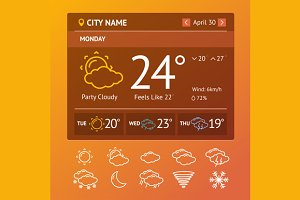 Weather Widgets. Vector