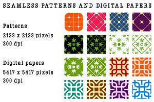 Seamless patterns and digital papers