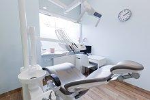 Dentist's office - clean interior.