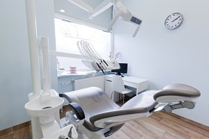 Dentist's office - clean interior.