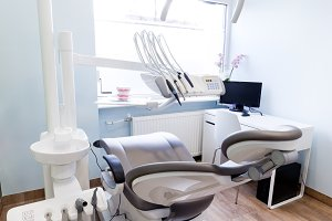 Dentist's office - modern interior.