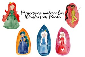 Princess pack watercolor set