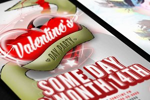 Valentines or love flyer template