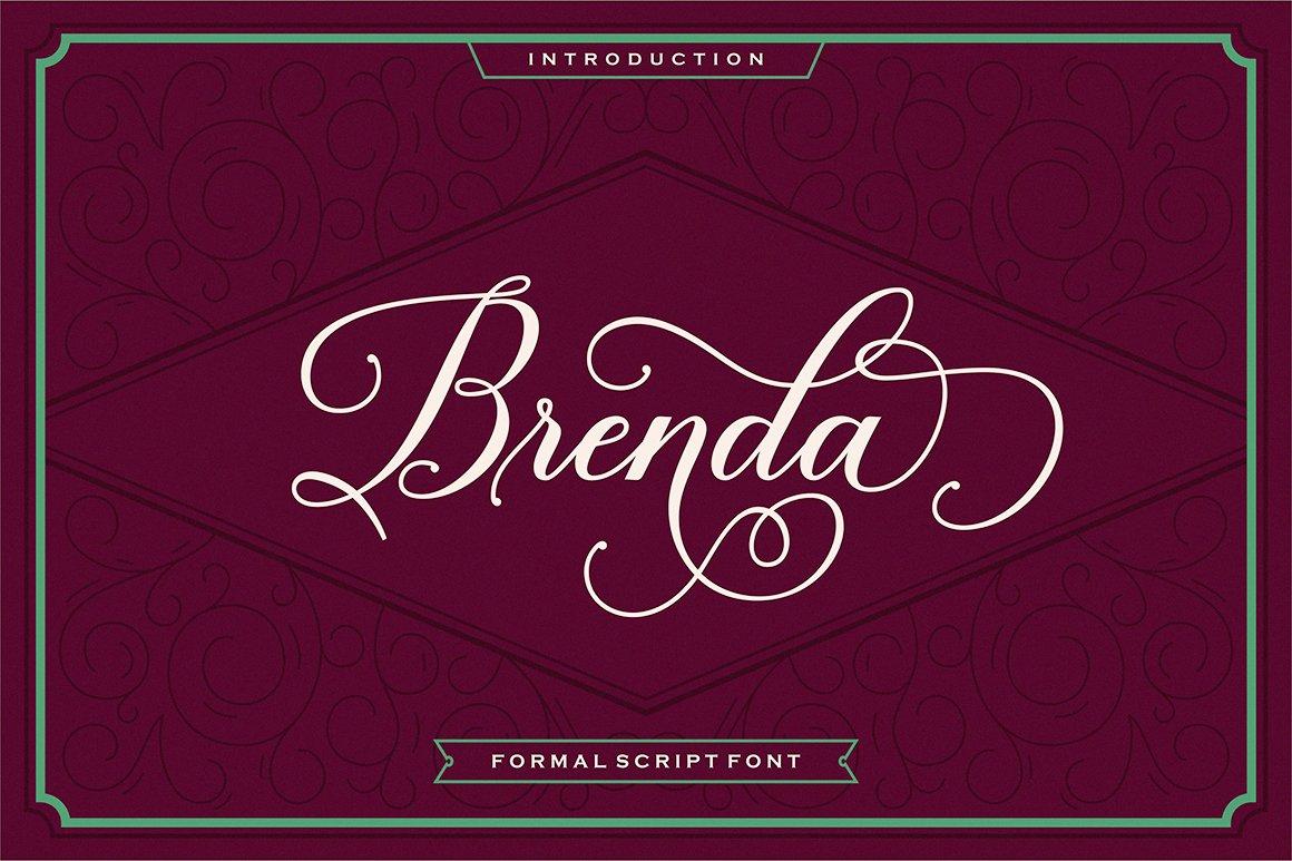 Brenda Script Script Fonts Creative Market