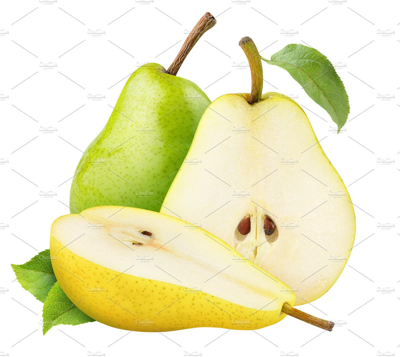 Yellow And Green Pears Isolated Food Amp Drink Photos