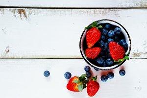Ceramic bowl with berries