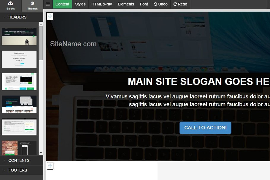 Bootstrap 3 EVO BLOCKS framework ~ Website Templates ~ Creative Market