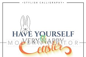 Happy easter. Lettering design