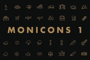 Monicons 1 - 100 icons