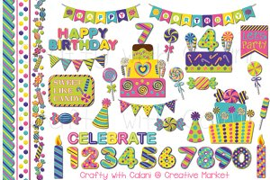 Candy Birthday Clipart