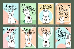 Set ready easter design cards