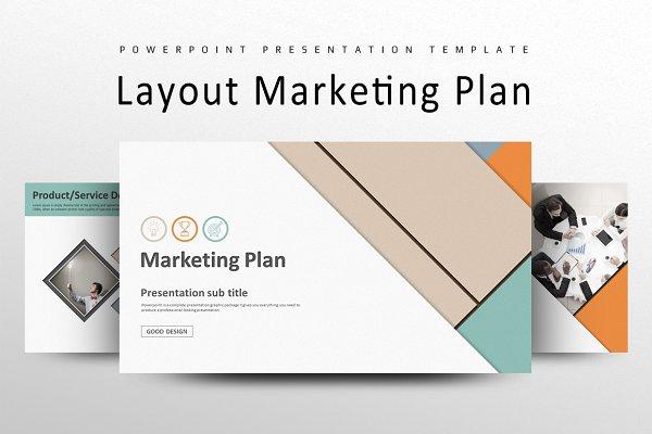 Layout Marketing Plan Strategy PPT