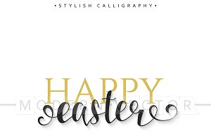 Happy easter card design.Calligraphy