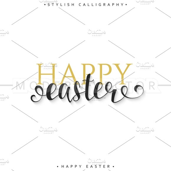 Happy easter card design.Calligraphy - Cards