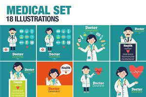 Vector Medical Set