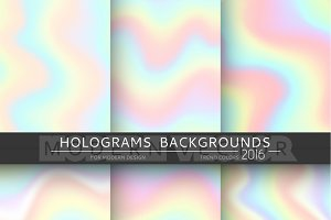 6 realistic holographic backgrounds