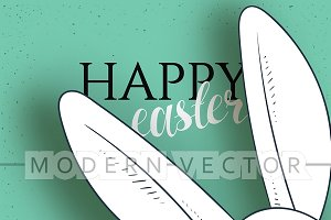 Happy easter. Design of festive card