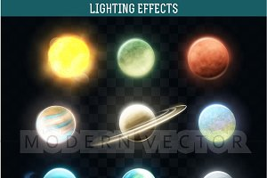 Set realistic bright planets