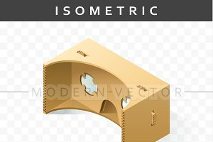 Isometry realistic cardboard glasses