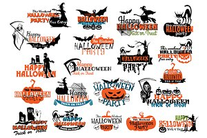 Halloween party banners and headers