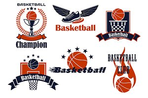 Basketball championship icons