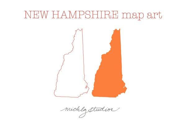 New Hampshire VECTOR & PNG map art