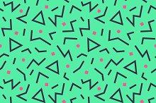 seamless pattern 80s. Vector.