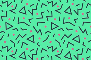 seamless pattern 80s. Vector.