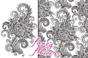 Fancy ornate flower