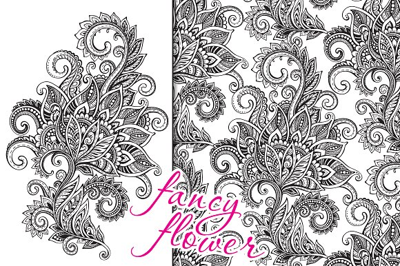 Fancy ornate flower in Graphics