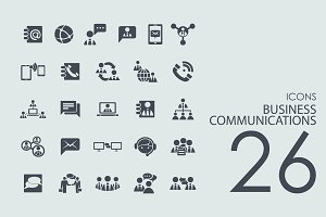 26 Business Communications icons