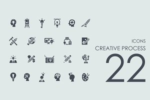 22 Creative Process icons