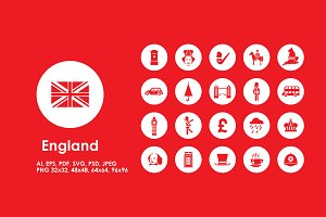 England simple icons