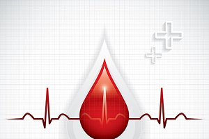 Blood donation background