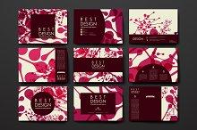 Set of Beautiful Cards