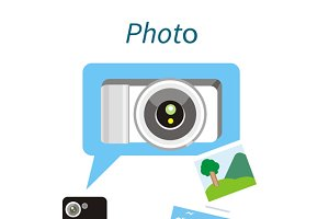Photo Concept Flat Design Style