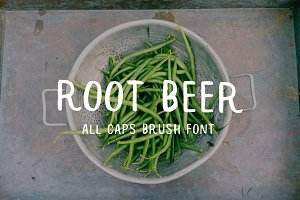 Root Beer Brush Typeface